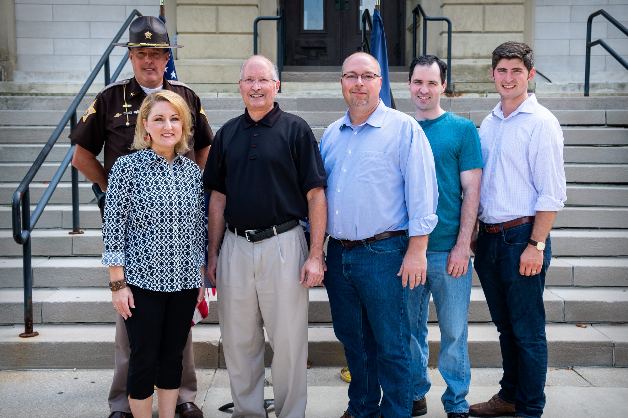 Brad Rogers for Commissioner Endorsements - From left to right; Sheriff Kyle Dukes, Rep. Christy Stutzman, Candidate for Commissioner Brad Rogers, Rep. Curt Nisly, Councilman Mike Orgill, Rep. Timothy Wesco.